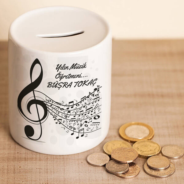 Müzik Öğretmenine Hediye Kumbara