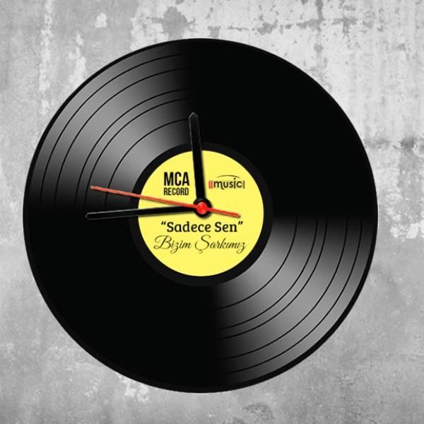 Müzik Plağı Tasarımlı Duvar Saati