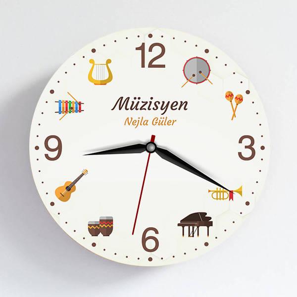 Müzisyene Hediye Duvar Saati