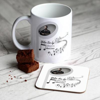 - Müzisyene Hediye Kupa Ve Bardak Altlığı