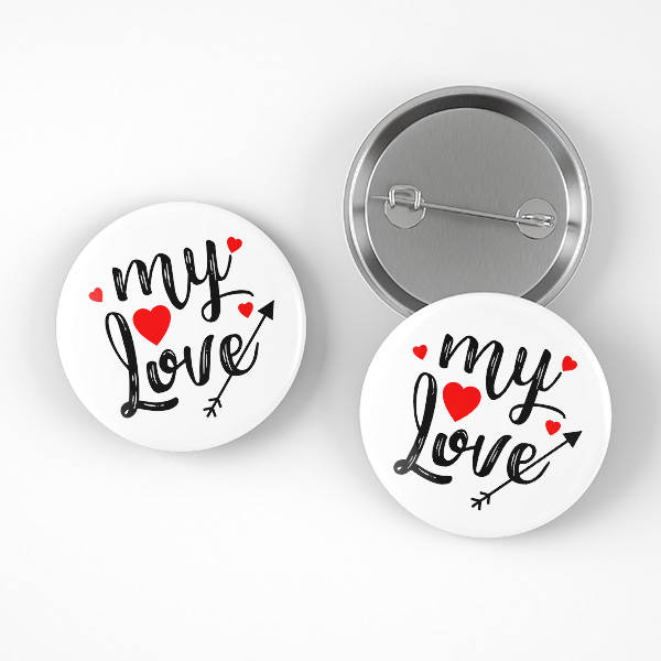 My Love Romantik Buton Rozet