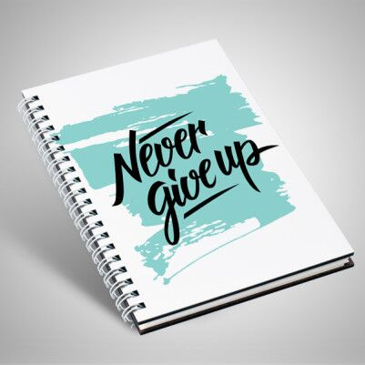 - Never Give Up Motto Defter