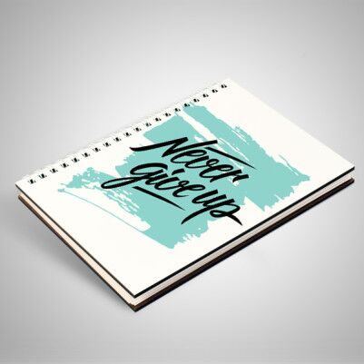 Never Give Up Motto Defter - Thumbnail