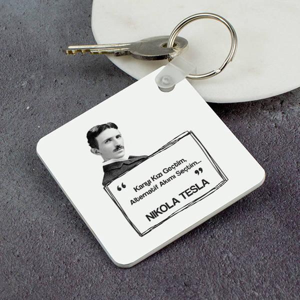 Nikola Tesla Esprili Anahtarlık