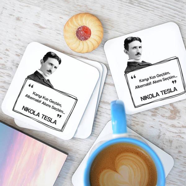 Nikola Tesla Esprili Bardak Altlığı Seti