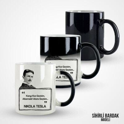 Nikola Tesla Esprili Kupa Bardak - Thumbnail