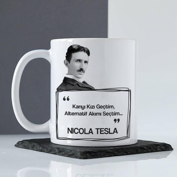 Nikola Tesla Esprili Kupa Bardak