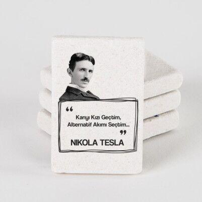 - Nikola Tesla Esprili Taş Buzdolabı Magneti