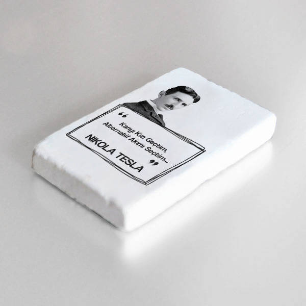 Nikola Tesla Esprili Taş Buzdolabı Magneti