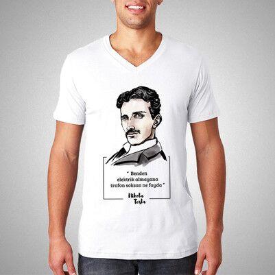- Nikola Tesla Esprili Tişört