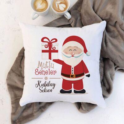 - Noel Baba İkonlu Yılbaşı Yastığı