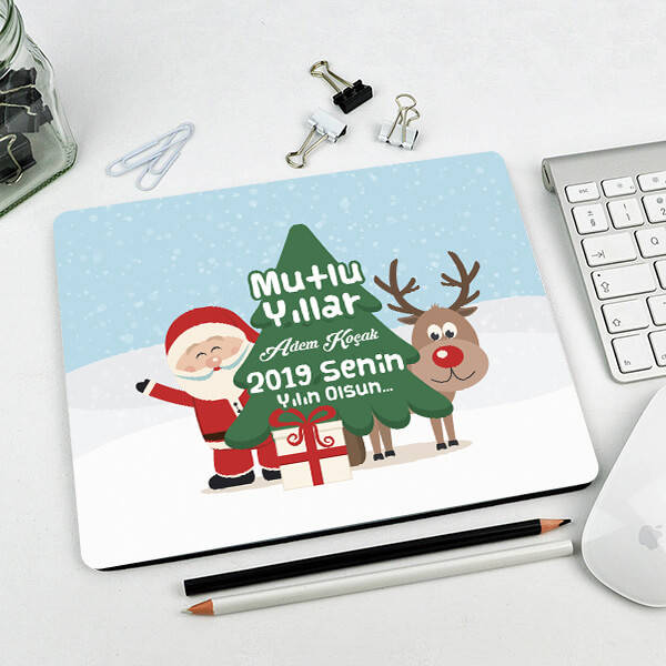 Noel Baba Mutlu Yıllar Mouse Pad