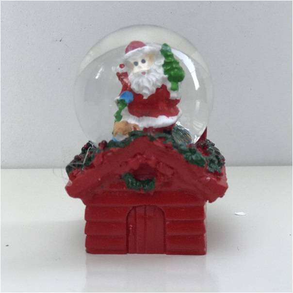 Noel Baba Objeli Mini Kar Küreleri