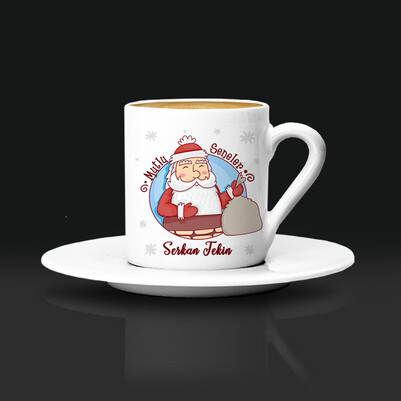 - Noel Baba Tasarımlı Yılbaşı Kahve Fincanı
