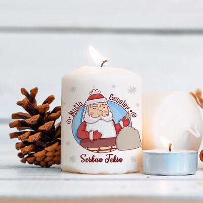 - Noel Baba Tasarımlı Yılbaşı Mumu