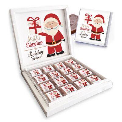 - Noel Baba Temalı İsme Özel Kutu Çikolata