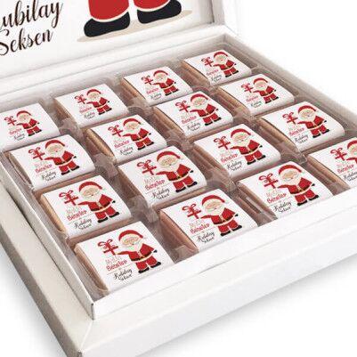 Noel Baba Temalı İsme Özel Kutu Çikolata - Thumbnail