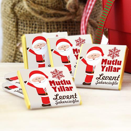 Noel Baba Temalı Yılbaşı Çikolatası
