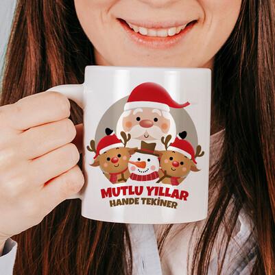 Noel Baba ve Arkadaşları Kupa Bardak - Thumbnail