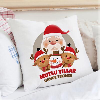 Noel Baba ve Arkadaşları Yastık - Thumbnail