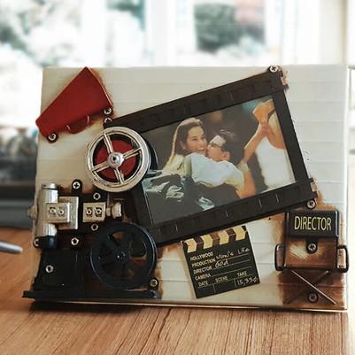 Nostaljik Film Makinesi Resim Çerçevesi - Thumbnail