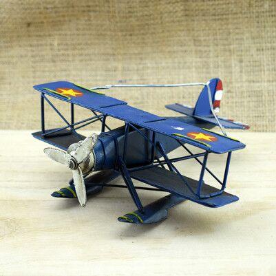 Nostaljik Metal Uçak Maketi - Thumbnail