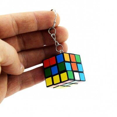 Nostaljik Rubik Küp Anahtarlık - Thumbnail