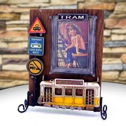 Nostaljik Sarı Tramvay Resim Çerçevesi - Thumbnail