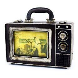 Nostaljik TV Tasarımlı Metal Çanta - Thumbnail