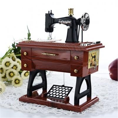 - Nostaljik Dikiş Makinesi Müzik Kutusu