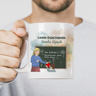 - Öğrencisinden Öğretmene Hediye Kupa Bardak