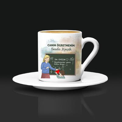 - Öğrencisinden Öğretmenine Hediye Kahve Fincanı
