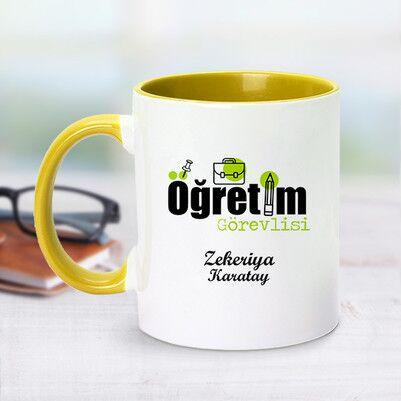 - Öğretim Görevlisi İçin Sarı Kupa Bardak