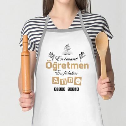 - Öğretmen Annelere Özel Mutfak Önlüğü