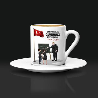- Öğretmen Atatürk İsimli Kahve Fincanı