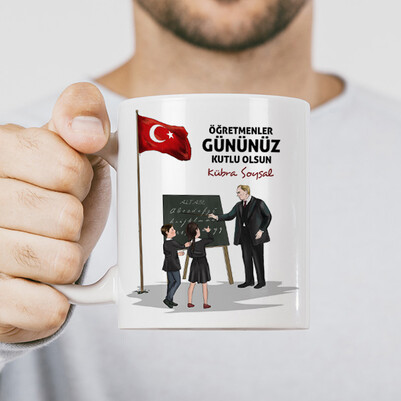 - Öğretmen Atatürk İsimli Kupa Bardak