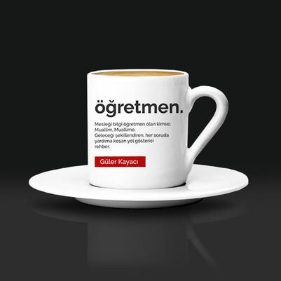 - Öğretmen Kavramı İsimli Kahve Fincanı