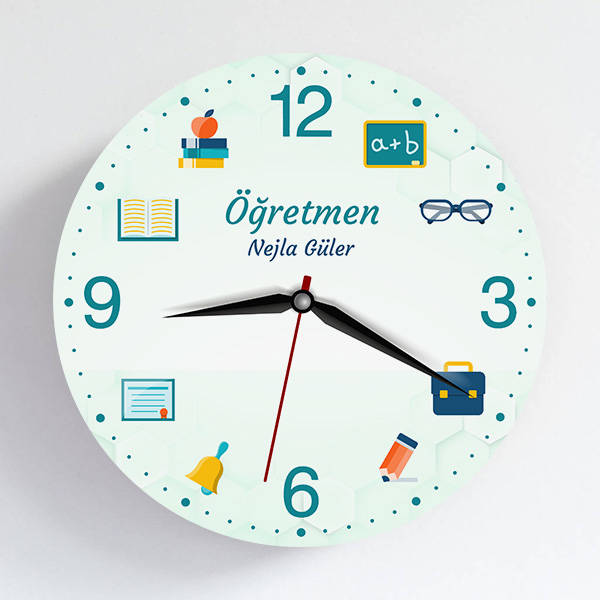Öğretmen Temalı Hediye Duvar Saati