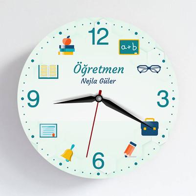 - Öğretmen Temalı Hediye Duvar Saati