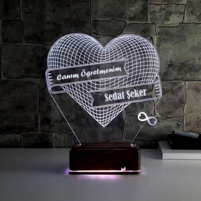 Öğretmene Özel 3D Led Lamba - Thumbnail