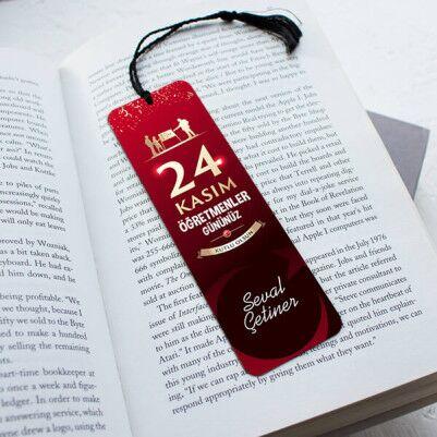 - Öğretmenler Günü Hatırası Kitap Ayracı