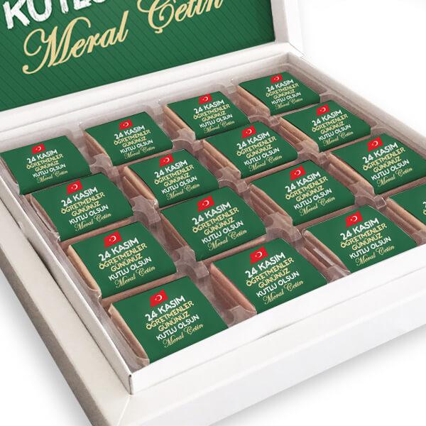 Öğretmenler Günü Hediyesi Çikolata Kutusu