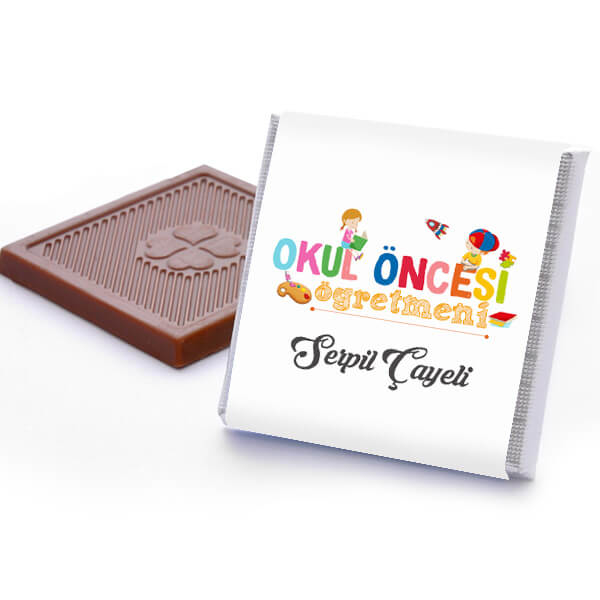 Okul Öncesi Öğretmenine Hediye Çikolata Kutusu