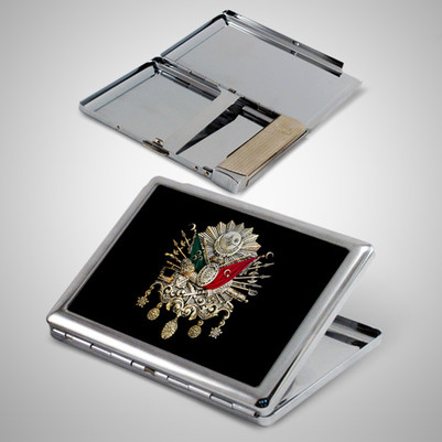 - Osmanlı Arması Metal Sigara Tabakası