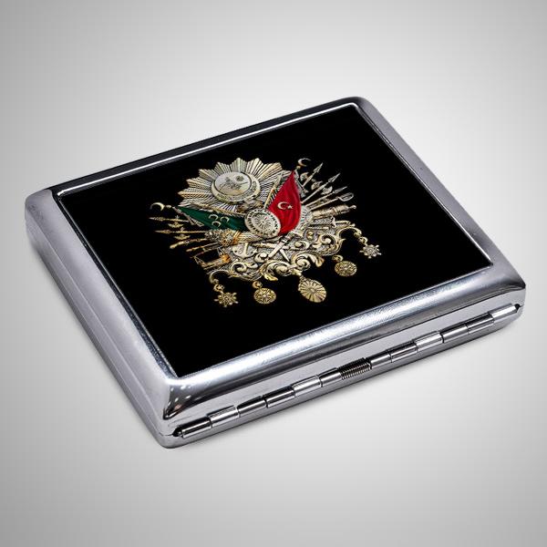 Osmanlı Arması Sigara Tabakası ve Çakmak Seti