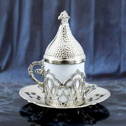 Osmanlı Motifli Otantik Kahve Fincan Seti - Thumbnail