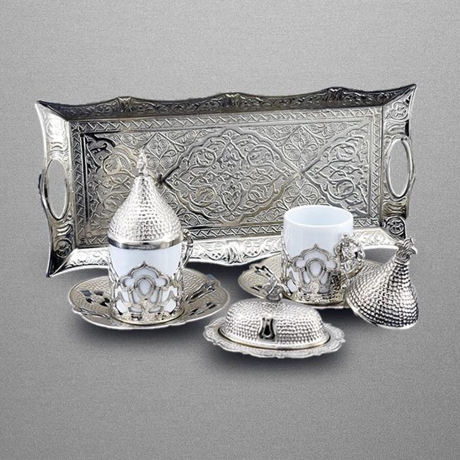 Osmanlı Motifli Otantik Kahve Fincan Seti