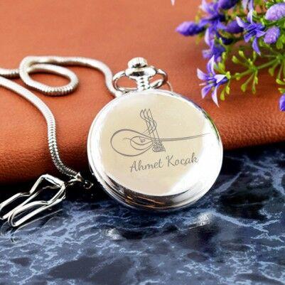 - Osmanlı Tuğralı İsme Özel Köstekli Saat