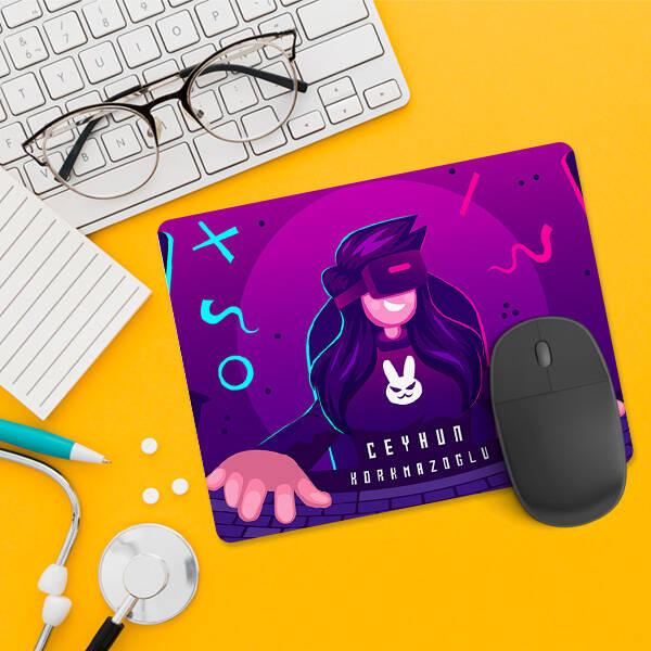 Oyun Tutkunlarına Özel İsimli Mousepad