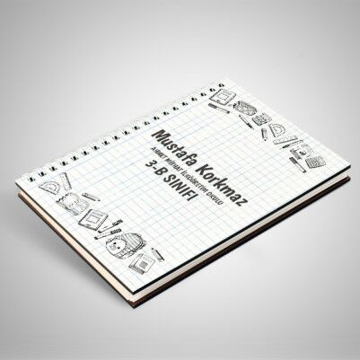 Özel Tasarım İsim Yazılı Öğrenci Defteri - Thumbnail